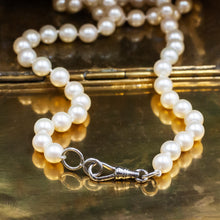 Pearl Necklace with Sterling Swivel Hook Clasp