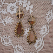 Victorian Scenic Cameo Drop Earrings