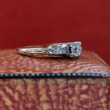 Old Mine Diamond Two-Tone Ring c1930