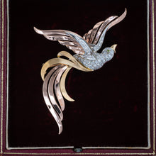 Resplendent Diamond Bird Brooch c1940