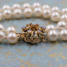 Pearl Bracelet with Opal Clasp c1980