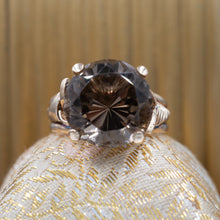 Smoky Quartz Cocktail Ring c1940