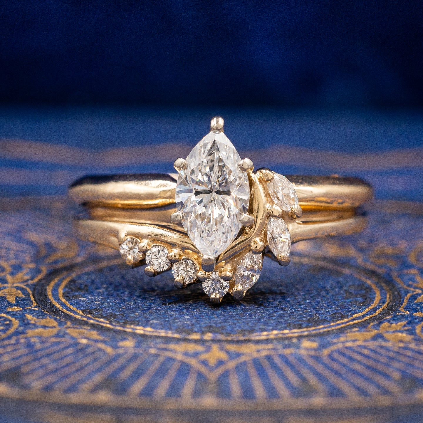 Marquise Cut Diamond Set c1980