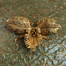 Antique Filigree Orchid Brooch