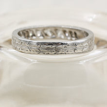 1914 Handmade Platinum Diamond Band