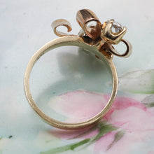 Retro Aquamarine Bow Ring