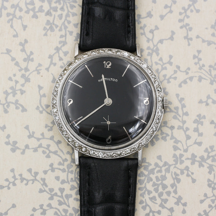 c1950 Hamilton Diamond Bezeled Watch