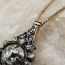C1860 Old Mine and Rose Cut Pendant- Bale Detail