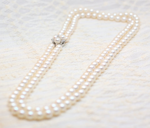 7-7.5mm Akoya Cultured Pearls, 20-22 Inches