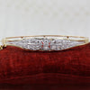 1890s Platinum Diamond Topped Mid-century Bangle