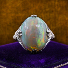 1920s Marsh & Co. Fine Opal Platinum Ring