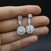 5 Carat Old European Diamond Drop Earrings