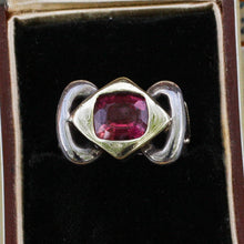 Bold Sterling Pink Tourmaline Ring c1980