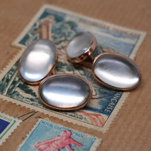 Rose Gold and Moonstone Cufflinks circa 1930