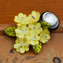 Yellow Floral Brooch by Fabrice