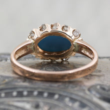 C1880 Turquoise and Rose Cut Diamond Ring- Underside View
