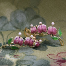 Midcentury Bleeding Heart Flowers Earrings