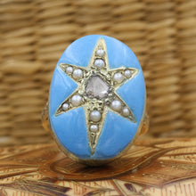 1850s Enamel Star Ring