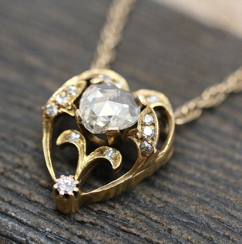 Circa 1930 french rose cut diamond necklace
