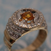 14K Gold Gents Ring with Yellow Sapphire