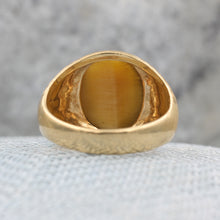 Tiger Eye Cabochon Ring c1960s