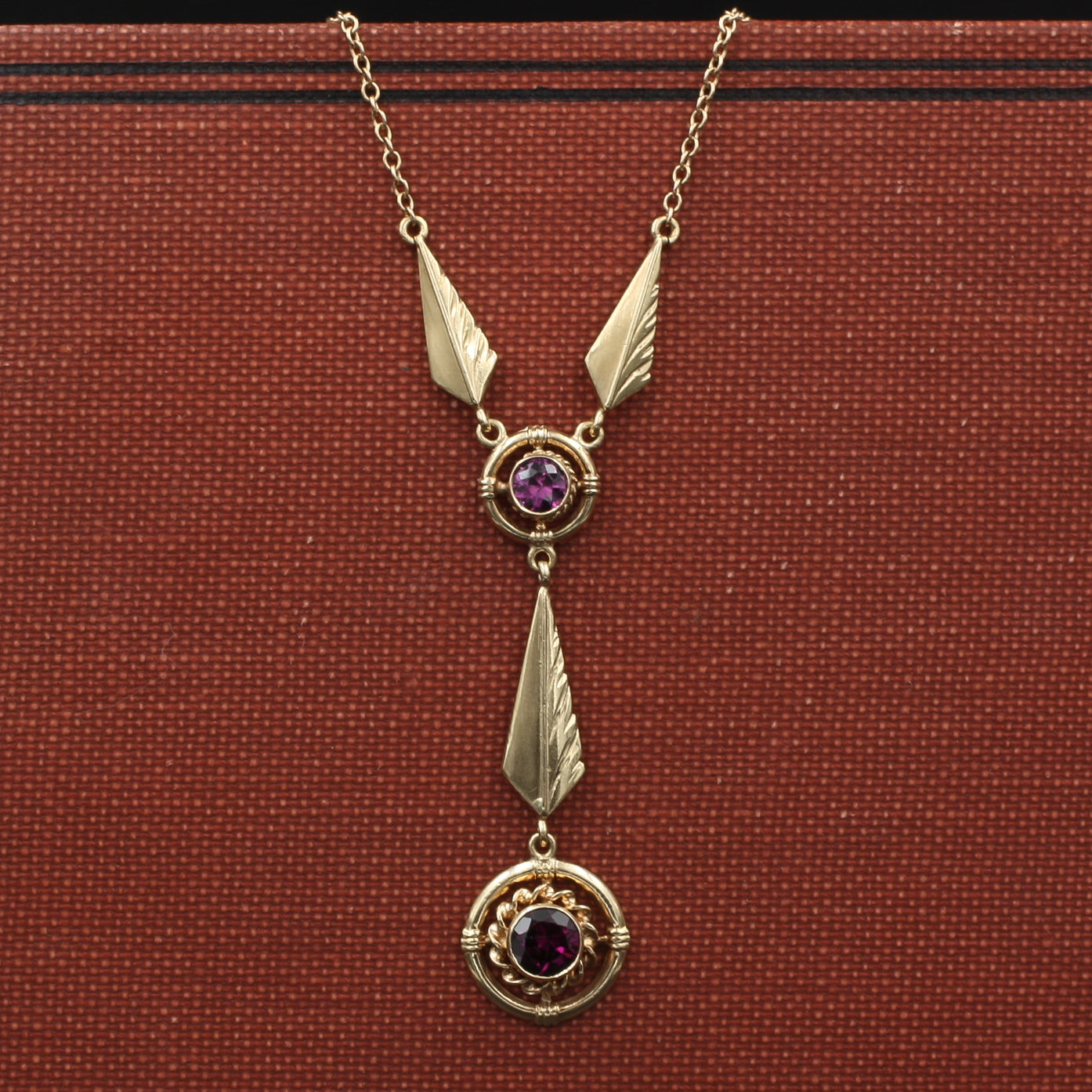 Amethyst Feathers Necklace c1930