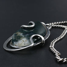 Midcentury Henry Steig Moss Agate Pendant Nacklace