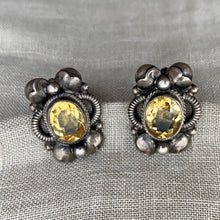 Sterling & Citrine Earrings by Peruzzi c1930