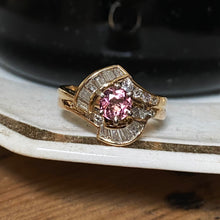 Pink Tourmaline & Diamond Ring c1980