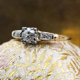 1930s Old Mine Cut Diamond 14k Two-tone Ring