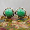 c1930 Untreated Jade 14k Screw-on Earrings