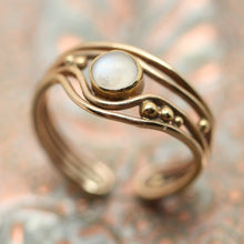 Artisan-Made 14K Moonstone Ring