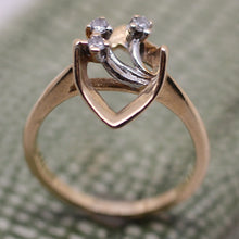 14K Abstract Ring with Diamonds