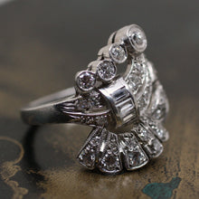 Circa 1920 Handmade Platinum Diamond Ring