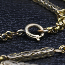 1930s Long Rose Gold Watch Chain