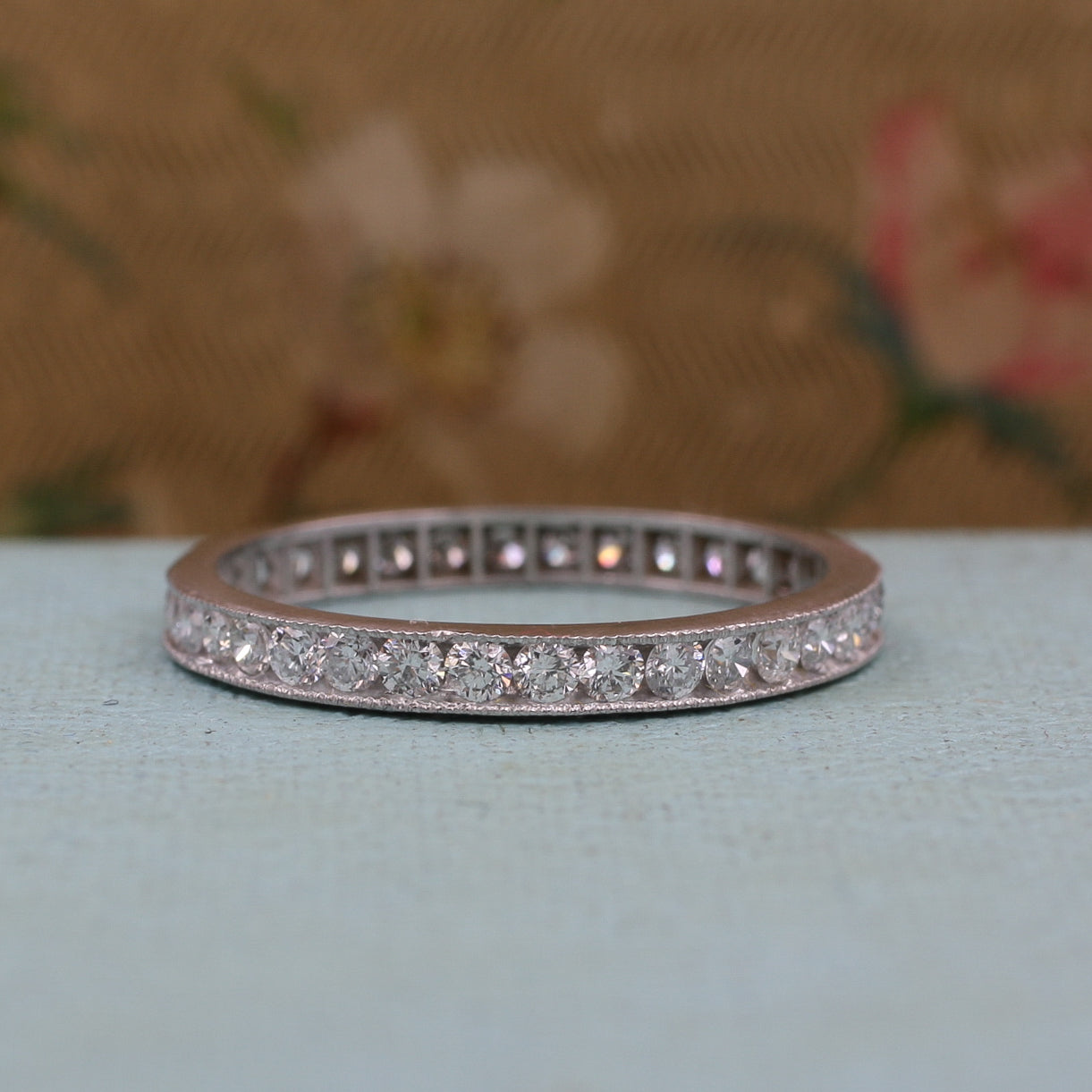 1950s Platinum Diamond Eternity Band