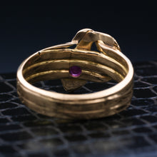 1930s Men's Ruby Snake Ring