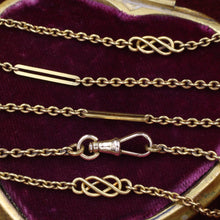 Extra Long 18k Victorian Watch Chain c1890