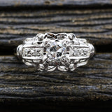 c1920 14k .25ct old European Cut Diamond Ring
