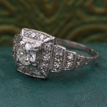 Deco Pavé Diamond Square Step Ring