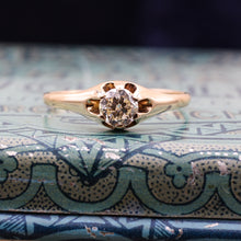Antique Rose Gold Belcher Diamond Solitaire