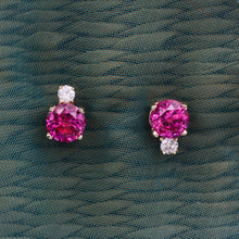 Fine Ruby and Diamond Studs