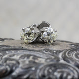 2.54 Carat Old Mine Cut Diamond Studs