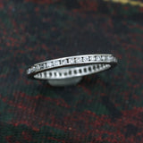 1940s-50s 18k Fine Diamond Eternity Band
