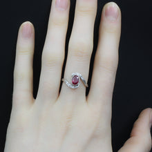 Ruby and Diamond Eye Ring c1910