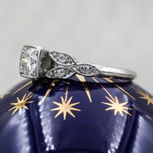 1930s Handmade Platinum Half Carat Diamond Ring