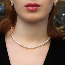 8mm Fine Akoya Pearl Necklace c1950