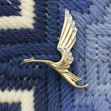 Flying Crane Brooch