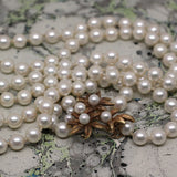 14K Japanese Cultured Pearl Rope Necklace