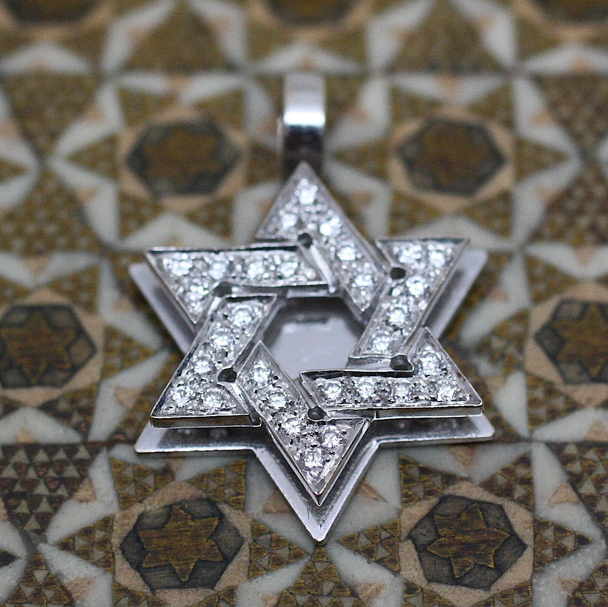 18k diamond star of david pendant pippin vintage jewelry aloadofball Images